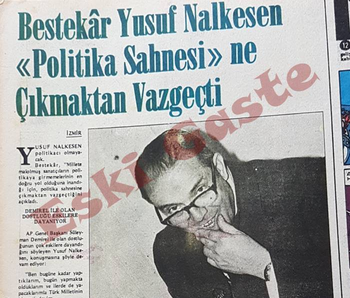 Yusuf Nalkesen Politikadan Vazgeçti