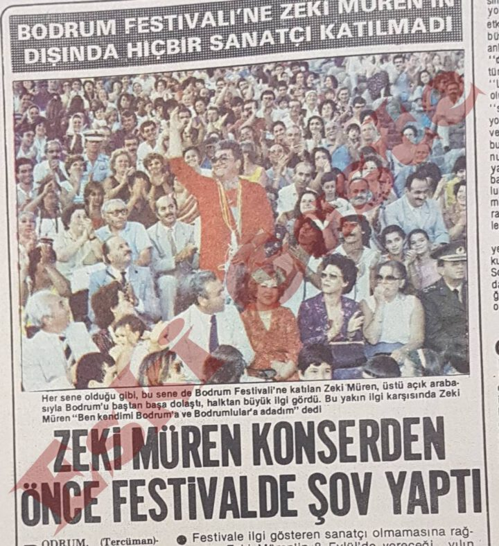 Zeki Müren Bodrum Festivali'nde Şov Yaptı
