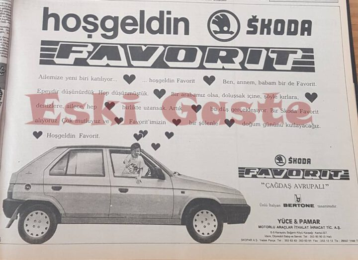 1989 Skoda Favorit Reklamı