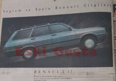1989 Model Renault 12 Toros Reklamı