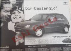 1997 Toyota Starlet Reklamı