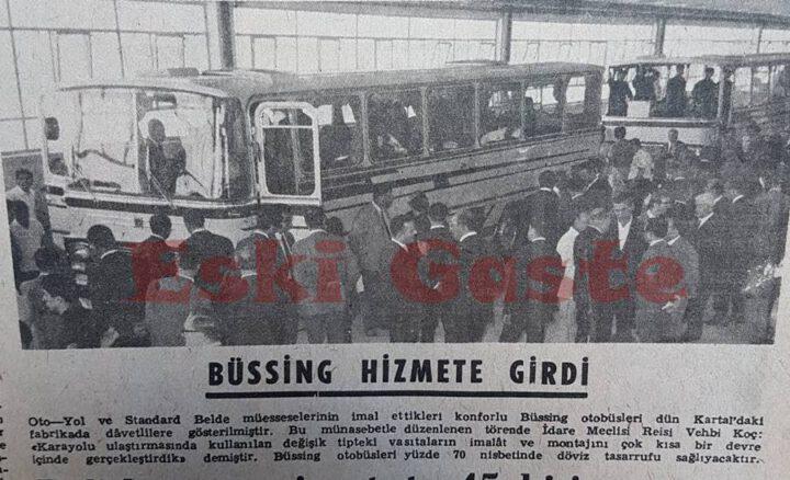 Büssing Otobüs Hizmete Girdi