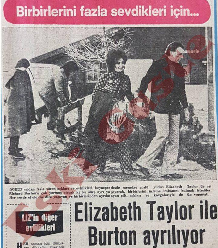 Elizabeth Taylor Richard Burton Çifti Ayrılıyor