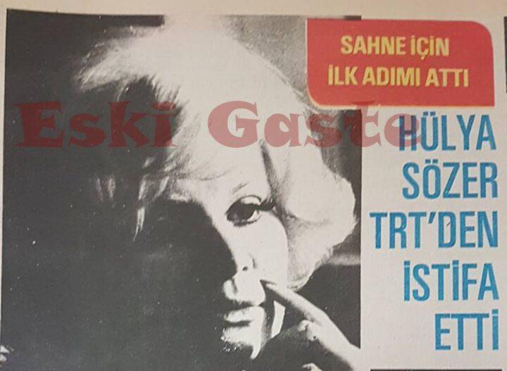 Hülya Sözer TRT'den İstifa Etti