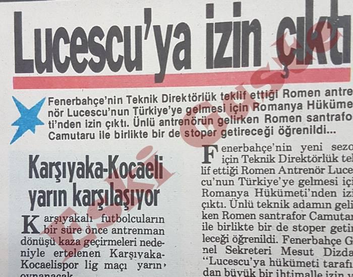 Fenerbahçe'de Mircea Lucescu İddiası