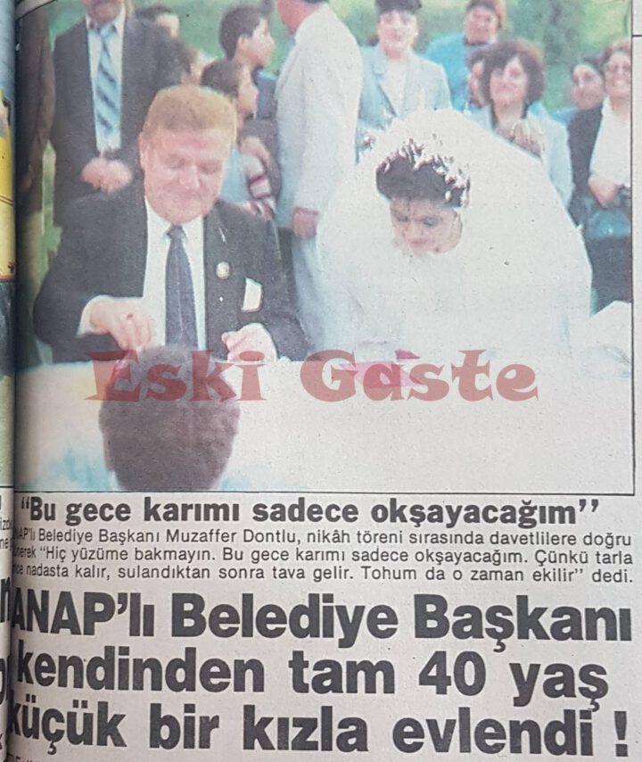 Muzaffer Dontlu 40 Yaş Küçük Kadınla Evlendi