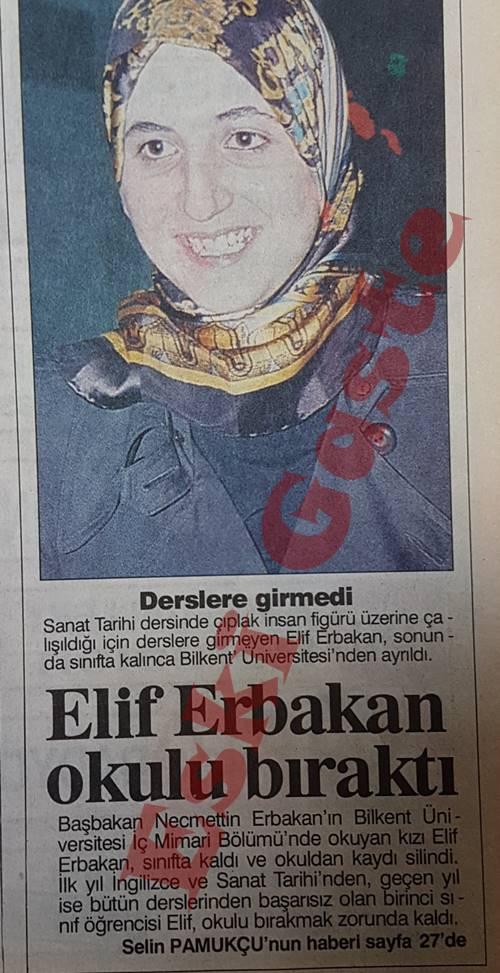 Elif Erbakan Bilkent Üniversitesi'ni Bıraktı