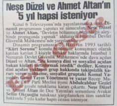 Neşe Düzel ve Ahmet Altan'ın 5 yıl Hapsi İsteniyor