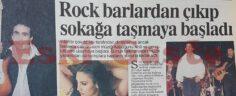 Rock Müzik Barlardan Çıkıp Sokağa Taşmaya Başladı