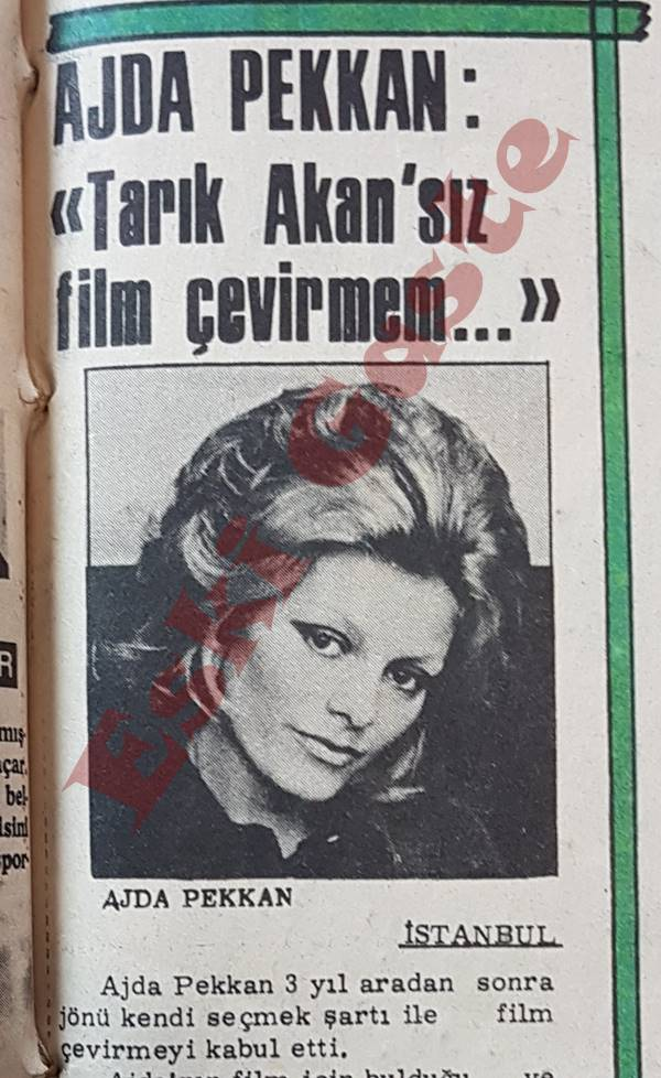 Ajda Pekkan: Tarık Akan'sız Film Çevirmem