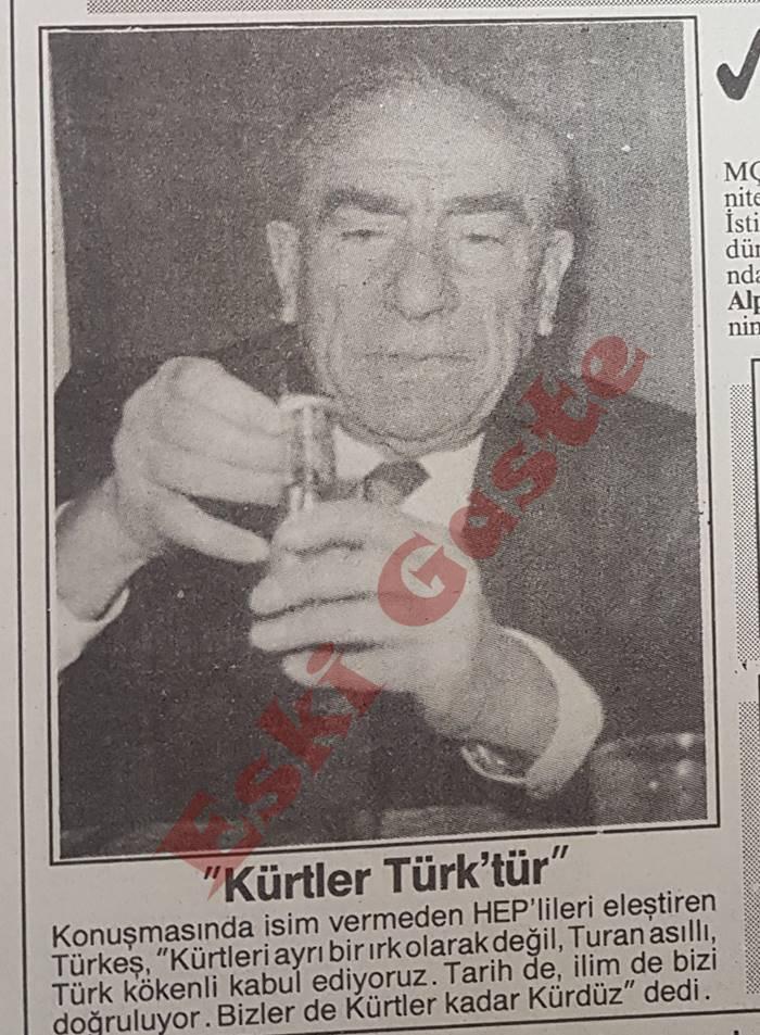 Alparslan Türkeş: Kürtler Türktür