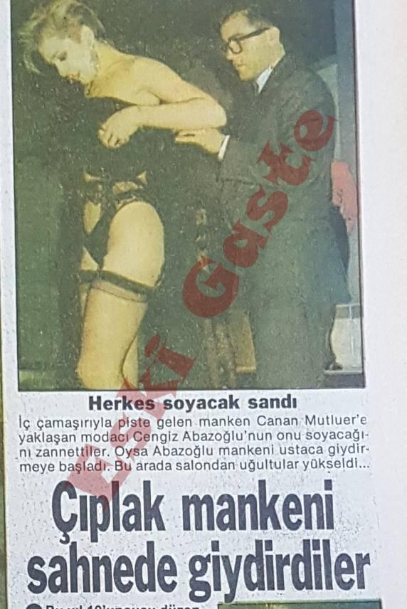 Cengiz Abazoğlu Canan Mutluer'i Sahnede Giydirdi
