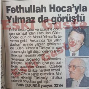 Mesut Yılmaz Fethullah Gülen