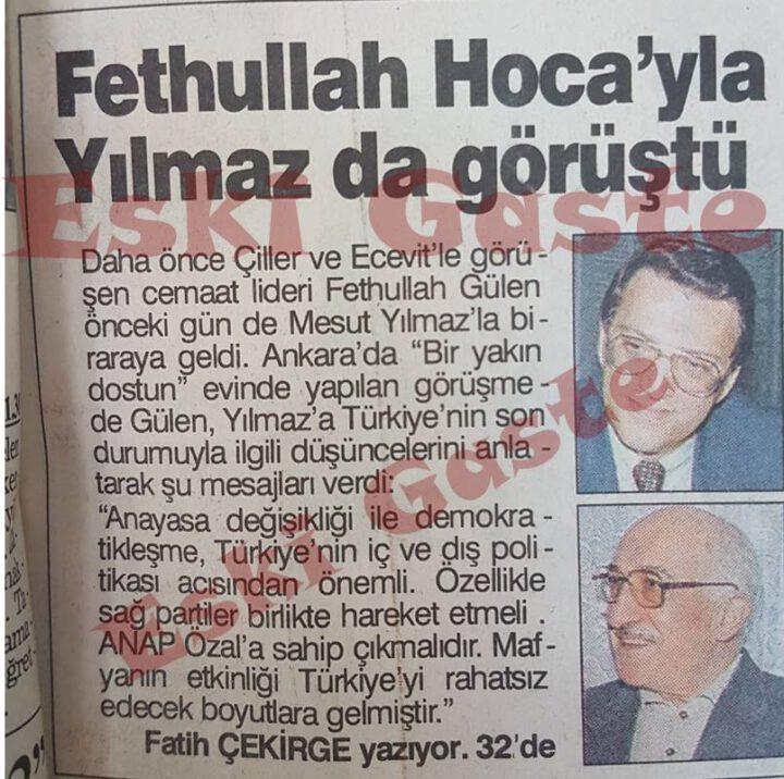 Mesut Yılmaz Fethullah Gülen Görüşmesi