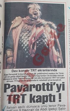 Pavarotti İstanbul Konseri TRT'de