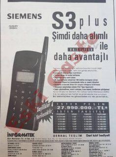 Siemens S3 Plus Reklamı